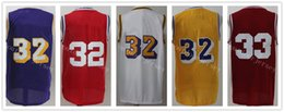 Wholesale Black Magic Player - Discount Basketball Jersey 8 24 33 Kobe Bryant 2 Lonzo Ball Jersey 14 Brandon Ingram 32 Magic Johnson Player Jerseys