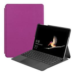 tablet mais fino Desconto Slim Magnetic Stand Capa Flip Bom PU Estojo De Couro para Microsoft Surface Go 10 polegada Tablet Protetor Da Pele Shell 100 pcs