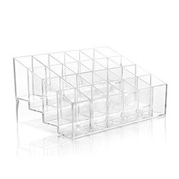 Wholesale Acrylic Jewelry Display Transparent - 2PC Lot Transparent Acrylic 24 Birds Lipstick Display Stand Case Jewelry Box Makeup Organizer Tool Cosmetic Home Storage Holder Hogard