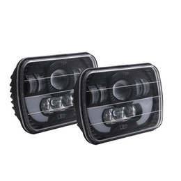 Wholesale Projector Low Beam - 5x7 Headlights Led 6x7 Projector Replacement Rectangular High Low Beam For Jeep Wrangler YJ Cherokee XJ Trucks H6054 H5054 H6054LL 69822 605