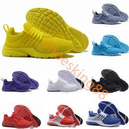the best attitude 65dc1 b190d Nouveau PRESTO BR QS Respirer Jaune Noir Blanc Mens prestos Chaussures  Sneakers Femmes, Chaussures de Course Pour Hommes Sport Chaussure,  Chaussures de ...