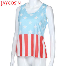 a35af319a103 JAYCOSIN Womens Sleeveless Vest Patriotic Stripes Star American Flag Print  Tank Top Fresh Style New Arrive Hot Dropship May 28