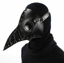 Wholesale Doctor Mask - Steam punk Plague Bird Doctor Nose Cosplay Fancy Gothic Medieval Steampunk Retro Rock Mask for Masquerade Party Halloween Costume 31X25X24CM