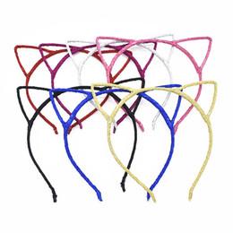 Canada 21 pcs nouveaux enfants festival de cheveux chat oreilles bandeau de hairband cristal strass tiara filles couronne cadre coiffure fer tête cerceau FG002 supplier kids cat headbands Offre