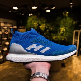 Wholesale Medium Time - Exclusive Ultra Boost Mid Shoes Run Thru Time, Shop Kith Friends & Family Ronnie Fieg x Consortium UltraBOOST Mid Blue Sneakers 2018