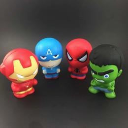 гаджеты для мужчин Скидка ПУ мститель 3 Железный Человек Капитан Америка Человек-паук Халк игрушки мягкий медленный отскок мягкий моделирование забавный гаджет вентиляционные декомпрессии игрушка B001