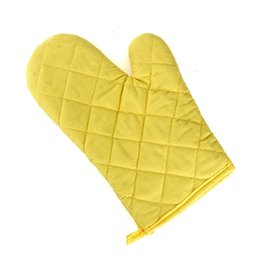 Wholesale Plastic Grills - Oven Gloves Bakeware Microwave Heat Insulation Anti High Temperature Grill Glove Dot Solid Sweet Oven Mitt Baking Gloves