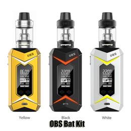 Wholesale Light Box Kits - 100% Original OBS Bat Kit VW TC 218W 7 Colors LED Lights Dual 18650 Battery Box Mod 5ml Damo Subtank Genuine
