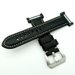 Полоса активной зоны онлайн-Черный для Suunto Core band ремешок из натуральной кожи с застежкой из нержавеющей стали + адаптер +2 шт. инструмент