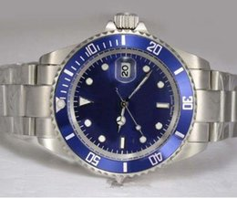 Wholesale 2824 Watch - 2018 Top Noob Factory V7 Version ETA Cal.2824 Titanium ETA Watch Men Blue Dial Mens 25600TB Rotor Self Winding Waterproof Watches
