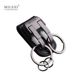 Wholesale Crosses Hang Car - milesi brand men waist hung metal car key chain llaveros for belt slider key holder Trinket keyring chaveiro porte clef K0126