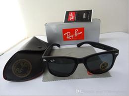 Wholesale cat bands - New Vintage Sunglasses Cat Eye Wayfarer Brand RAY Sun Glasses Bands Gafas de sol Men Women BEN BANS Mirror glass Lenses with case