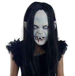 2019 zombie maschere Halloween Scary Mask Emulsione Pelle Capelli Lattice Creepy Toothy Zombie Fantasma Orrore Sadako Pullover Horror Party prop FFA800 sconti zombie maschere
