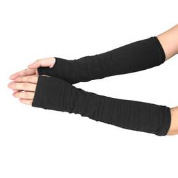 2019 рукавицы трикотажные Coffee&Gray&Black Winter Wrist Arm Hand Warmer Knitted 34cm Long Fingerless Gloves Elbow Unisex Mittens Guantes скидка рукавицы трикотажные