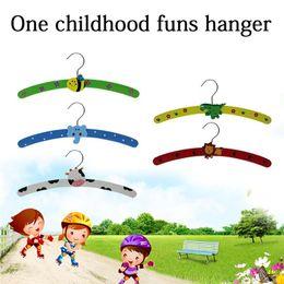 Wholesale Wooden Hangers Baby Children Kids - Super Lovely High Quality Home Nursery Room Child Kids Baby Cartoon Wooden Coat Clothes Hook Hanger Random 1PC