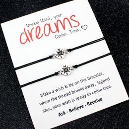 2019 nichtencharme Traum Liebe Freunde Thanksgiving Geschenk Oma Enkelinnen Tante Nichte Mutter Töchter machen einen Wunsch Kompass Armbänder für Frauen günstig nichtencharme