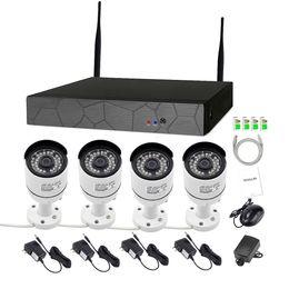 4CH CCTV Système Sans Fil 1080 P NVR kits 4 PCS 2.0MP IR Extérieure P2P Wifi IP CCTV Caméra de Sécurité Système Surveillance Kit sans fil cctv ? partir de fabricateur