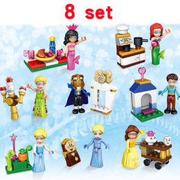 Wholesale princess blocks - 37006 Princess Cinderella Arendelle Castle Friends China supplier building blocks bricks lepin techinic toys eight sets