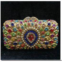 eb85d88d68b oro / plata Crystal Clutch Bolsos de noche Moda sparkly barato Diamond  Wedding Party Clutch banquete Bolso soiree pochette Monedero