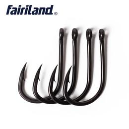 Крючки с черным покрытием онлайн-100 шт. / Лот матовый черный с тефлоновым покрытием карповые крючки TFSH-C Series 2 # 4 # 6 # 8 # 10 # рыболовные крючки с колючей проволокой