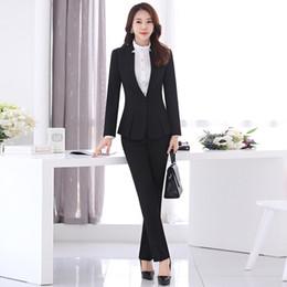 New Women Business Suits Blue Womens Pants Suit Slim Fit Suit Jackets With Pants Office Ladies Formal Ol Pants Work Wear Suits Unequal In Performance Pant Suits Suits & Sets