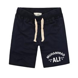 pantalons jaunes pour hommes à bas prix Promotion Muhammad Ali Shorts Hommes Mma Vêtements Décontractés Pour Hommes Plus Grand Fitness Shorts Imprimé Plus La Taille Homme Genou Longueur Été
