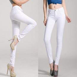 Wholesale Cheap Women Jeans Pants - new candy colores women pants fashion cheap clothes china cotton denim high waist true skinny jeans woman pants clothing