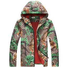 Доставка цветов онлайн-Зима осень цветок тигр печати куртки мужчины новый роскошный бренд ветровка мужчины high street мужчины спортивная куртка пальто бесплатная доставка