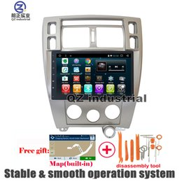 Wholesale Rear Console - QZ industrial left-hand MT 10.2inch Android 6.0 for Hyundai tucson 2004-2009 Car DVD player with Radio Navi GPS 3G 4G WIFI SWC BT RDS Map