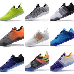 kb 11 zapatos Rebajas 2019 Nuevo Top Kobe 11 Elite Men Zapatillas de baloncesto Kobe 11 Red Horse Oreo Sneakers KB 11 Zapatillas deportivas con caja