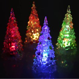 Wholesale Coloured Tables - christmas tree LED Colour Changing Desk Table Top kids Merry Christmas Tree toy gifts Night Light Decoration Gift Festive Party
