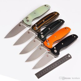 Wholesale Outdoor Axes - Shirogorov 110 pro 60HRC Axis Lock 100% D2 blade folding knife camping survival knife outdoor hunting tools 1pcs free shipping