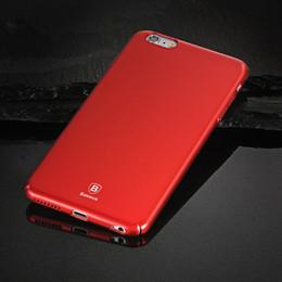 Wholesale Baseus Iphone Case - Baseus Ultra Thin Hard Plastic Matte Luxury Phone Case Dirt-resistant Anti-knock Cover For iPhone 6 6s 7 8 x plus