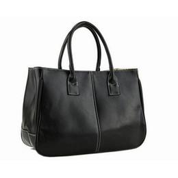 Wholesale Wholesale Leather Bag Straps - Wholesale- Handbags Casual Tote Fashion Elegant Korean Two Strap Totes Leather Bag Business Solid Open Versatile vrouwen handtas