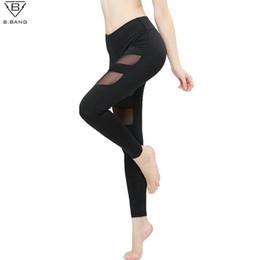 Wholesale Womens Compression Pants - B.BANG Womens Yoga Pants Compression Running Tights Woman Trousers Yoga Leggings Woman Sport Leggins Gym Pants