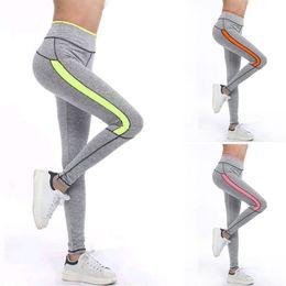 Wholesale Green Striped Leggings - Ladies Fashion Custom Spandex leggings Gym Wear Cheap Stretchable Women Fitness Running Yoga Pants Wholesale