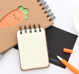 """Wholesale Travel Planner Book - Cartoon Top-Spiral Notebook,""""Carrot Expression"""" Cute Creative Coil Notepad Journal Record Book Weekly Planner 90 Sheets, Stationery (2 Size)"""