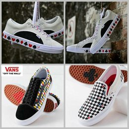 Wholesale play canvas - 2018 Urban Outfitters x Vans Playing Card Old Skool Shoes zapatillas de deporte Designer Casual Brand trainers Canvas Sneakers Chaussures