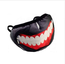 Tokyo ghoul máscara de algodón online-Alta calidad Tokyo Ghoul Halloween Party Mask Máscaras de algodón Cool Mask Anime Cosplay Máscaras