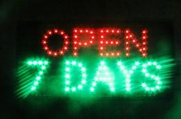 lojas grossistas de alimentos Desconto Aberto 7 dias venda Quente Animação levou sinal de luz de néon Aberto para bar Aberto levou sinais de exibição 48 cm * 25 cm atacado