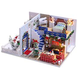 Деревянные пазлы ручной работы онлайн-IIECREATE Furniture DIY DollHouse Wooden Miniature Doll Houses Furniture Puzzle Handmade Dollhouse Craft Toys for Children Gif