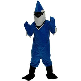 Wholesale Bird Fancy Dress - 2018 New high quality Blue bird Mascot costumes for adults circus christmas Halloween Outfit Fancy Dress Suit Free Shipping