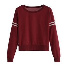 Wholesale Wholesale Ladies Sweatshirts - Hot Sale Ladies Casual Pullover Women Spring Fashion Jumper Tops Women's Long Sleeve Punk Sweatshirts Girls Red Pullovers #YL