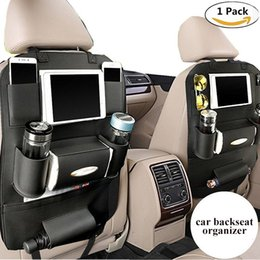 Wholesale Back Seat Ipad Holder - PU Leather Backseat Car Organizer Seat Pocket Protector Storage for Ipad Mini, iPhone, Cup Holder, Toy, Umbrella, Tissue Box (1pc)