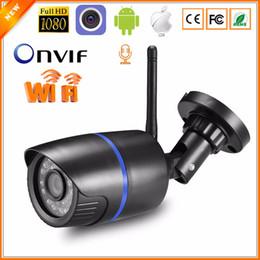 outdoor cctv ip wifi câmeras Desconto Câmera IP Wifi 1080 P 960 P 720 P ONVIF Sem Fio Com Fio P2P CCTV Bullet Outdoor Camera Com Miscro Slot para cartão SD Max 64G