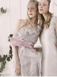 robe grise à une épaule Promotion 2019 Été Nouveau Design Thaïlande Silver Grey Couleur Robe de soirée courte à volants Une épaule Robe à volants Lady Dress Fashion