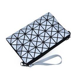 Wholesale Fold Over Purse - New Design Women Diamond Lattice Shoulder Bag Fold Over Geometry Female Small Message Bag for Lady Girl Casual Clutch Bag Purse