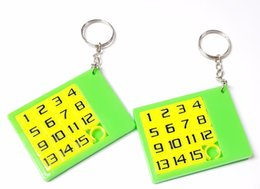 Wholesale puzzle pc game - 1 pc Key Ring Number Slider Puzzle E764 Kid Toy Birthday Party Favors Game Gift Prize Pinata Bag Filler Loot Gag Pocket Novelty