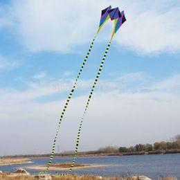 Оптовая продажа-горячая продажа 5ftsingle линия Дельта Кайт красочные спорта на открытом воздухе игрушки легко летать для детей длинный хвост от