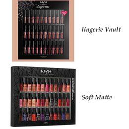Wholesale Gloss Set - Dropshipping NYX SOFT MATTE LIP CREAM nyx 36PCS Set Lipstick Lip Gloss Matte No Fading Sofe Velvet Lip Makeup 36 colors set